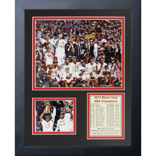 2013 Miami Heat NBA Champions Podium Framed Photographic Print by Legends Never Die