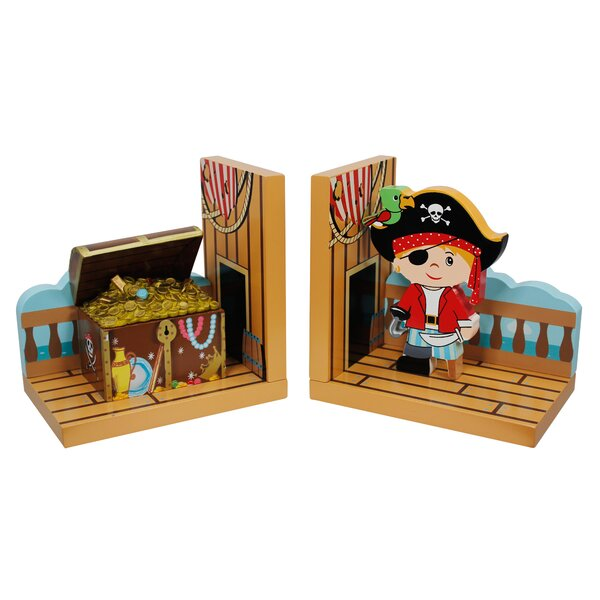 Fantasy Fields Pirates Island Bookends (Set of 2) by Fantasy Fields