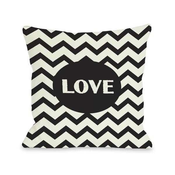 Love Chevron Throw Pillow by One Bella Casa