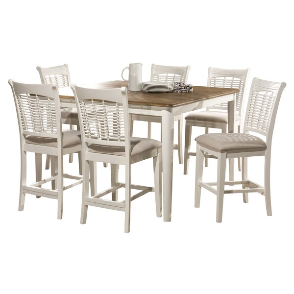 Hartling Bayberry 7 Piece Counter Height Dining Set by August Grove August Grove