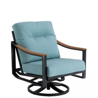 Brazo Swivel Action Patio Chair with Cushion by Tropitone