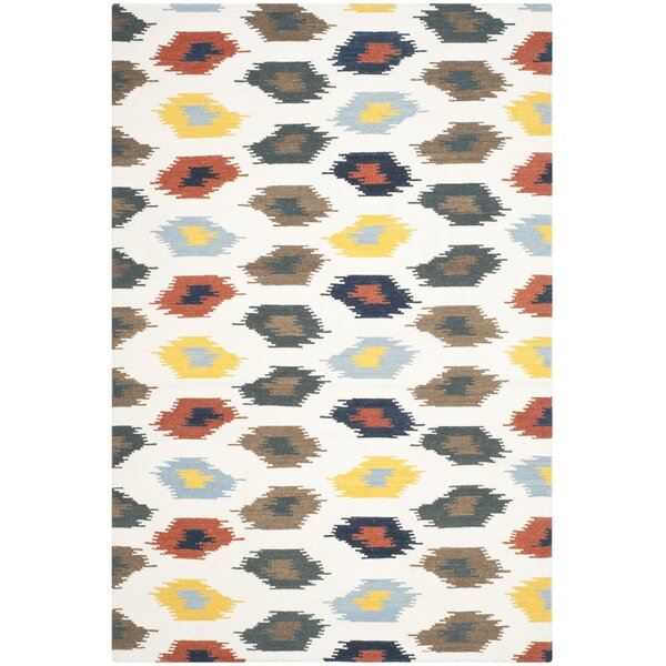 Dhurries Cotton/Wool Ivory Area Rug by Safavieh