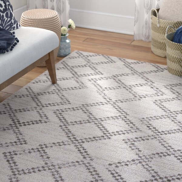 Bremen Ivory/Charcoal Area Rug by Bungalow Rose