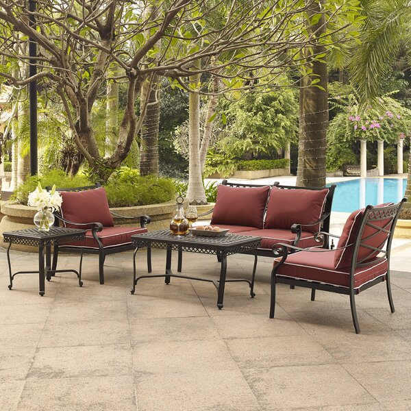 Nadine 5 Piece Sofa Set with Cushions by Fleur De Lis Living