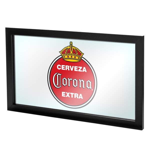 Corona Vintage Framed Logo Accent Mirror by Trademark Global