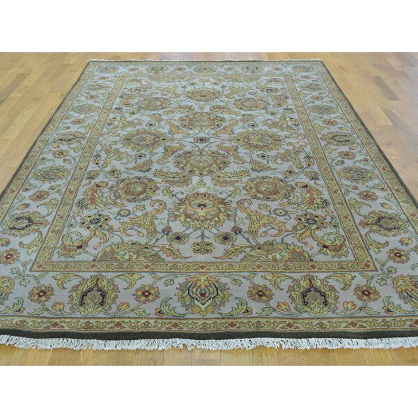 One-of-a-Kind Bear Hand-Knotted Grey Wool Area Rug by Isabelline