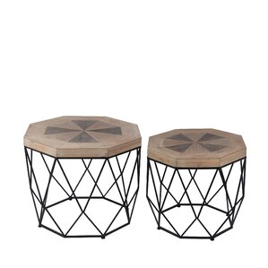 Ted 2 Piece End Table Set by World Menagerie
