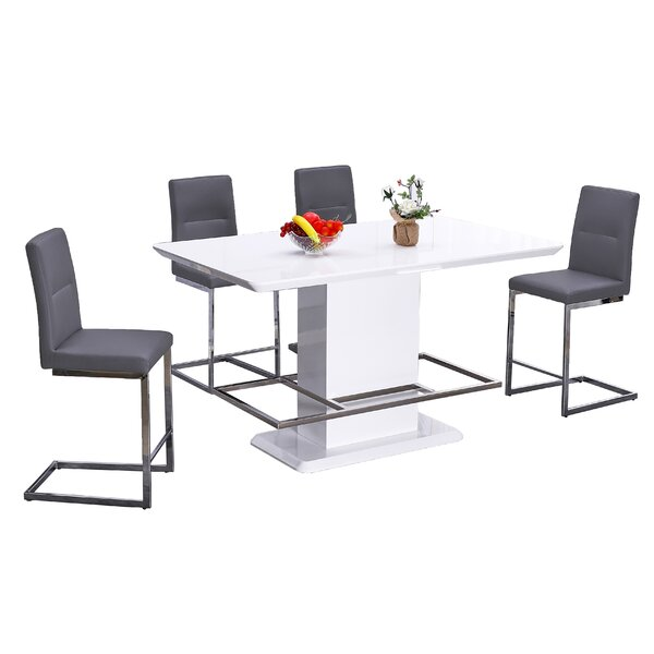 Mull 5 Piece Dining Set by Orren Ellis