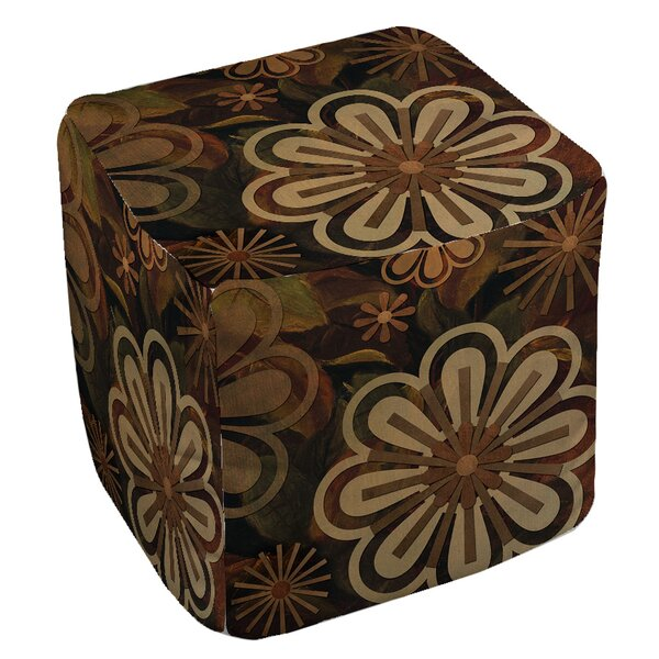 Floral Abstract 2 Pouf by Manual Woodworkers & Weavers