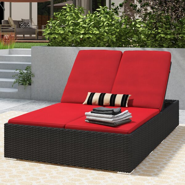 Tripp Double Reclining Chaise Lounge with Cushion by Brayden Studio