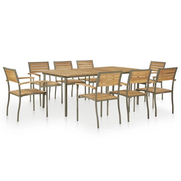 Mabel 9 Piece Dining Set by Rosecliff Heights