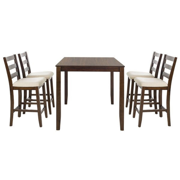 Hervey Bay 5 Piece Solid Wood Dining Set by Alcott Hill Alcott Hill