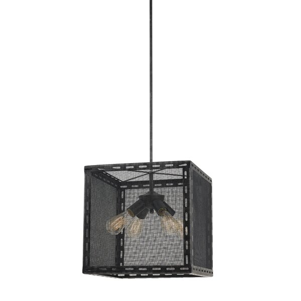 Frazier 4 - Light Shaded Rectangle / Square Chandelier by 17 Stories 17 Stories