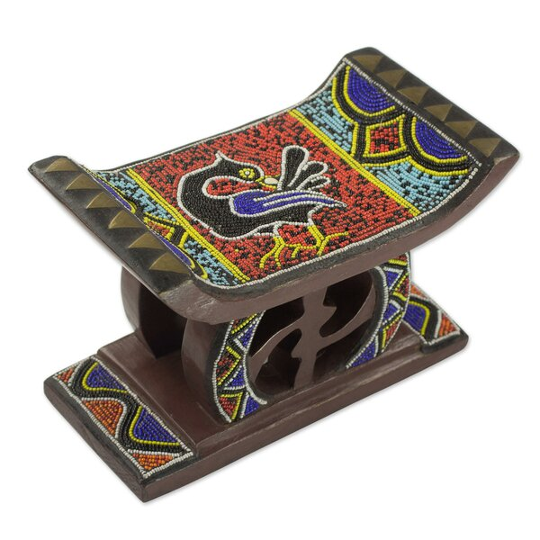 Sagamore Sankofa Wood Accent Stool by Bloomsbury Market