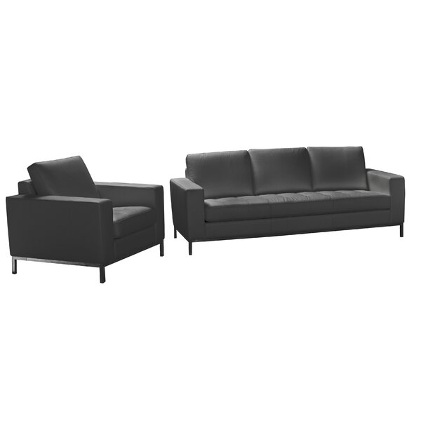 Witney 2 Piece Leather Living Room Set By Orren Ellis