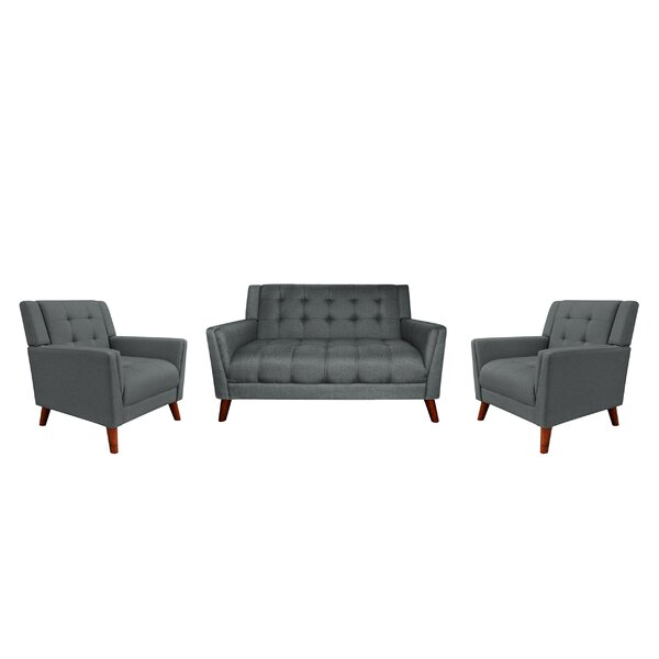 Bailes 3 Piece Living Room Set by George Oliver