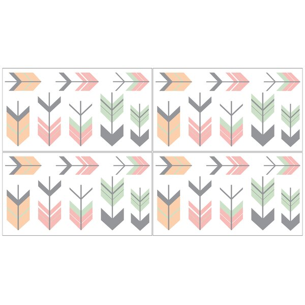 Grey and White Mod Arrow Collection Wall Decal by Sweet Jojo Designs