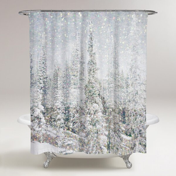 Magic Snow Trees Shower Curtain by East Urban Home