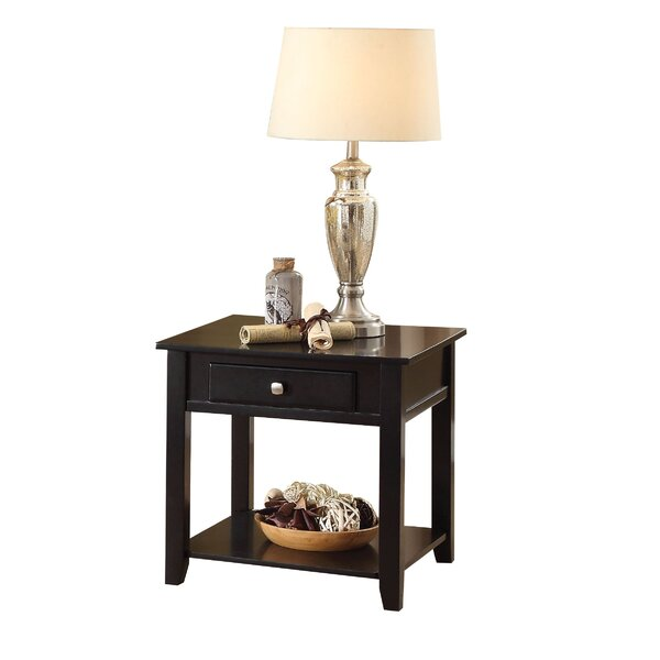 Matney Wooden End Table With Storage By Winston Porter