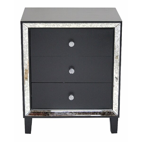 Moxley 3 Drawer Mirrored Accent Chest By Rosdorf Park