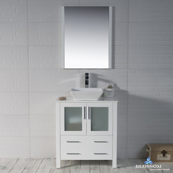 Mance 29 Single Bathroom Vanity Set with Mirror by Orren Ellis