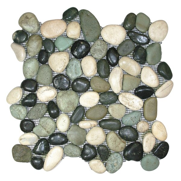 Yukon Random Sized Natural Stone Mosaic Tile in Turtle by CNK Tile