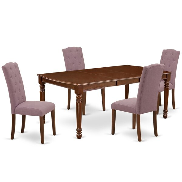 Coulonge 5 Piece Extendable Solid Wood Dining Set by Winston Porter Winston Porter