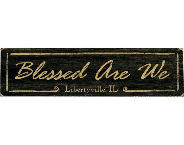 Personalized Blessed Are We Textual Art on Wood by Artehouse LLC