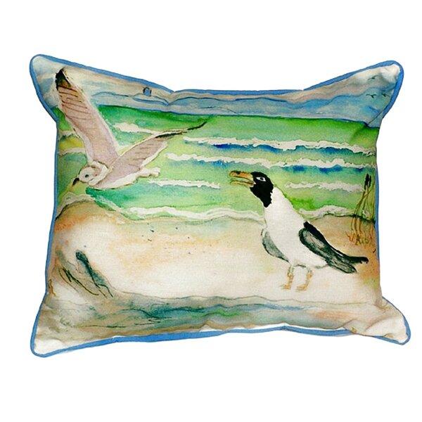 Seagulls Indoor/Outdoor Lumbar Pillow