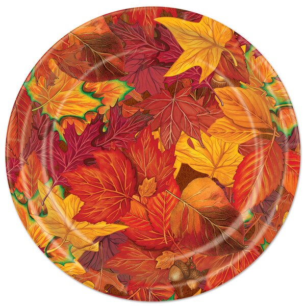 Fall/Thanksgiving Fall Leaf Plate (Set of 8) by The Beistle Company