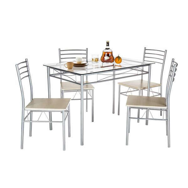 Liles 5 Piece Breakfast Nook Dining Set by Ebern Designs