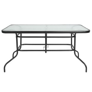 Patio Dining Tables Youll Love Wayfair - Black rectangular outdoor dining table
