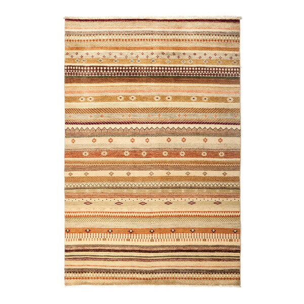 One-of-a-Kind Lori Hand-Knotted Beige Area Rug by Darya Rugs
