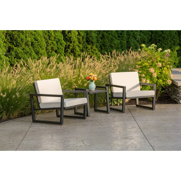 Vero 3 Piece Sunbrella Conversation Set with Cushions by Elan Furniture