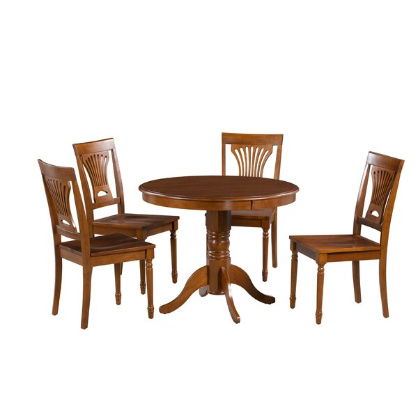 Inwood 5 Piece Solid Wood Dining Set by Darby Home Co Darby Home Co