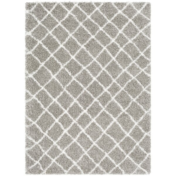 Grainger Trellis Taupe/Light Gray Area Rug by Ivy Bronx
