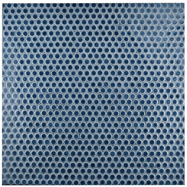 Penny 0.8 x 0.8 Porcelain Mosaic Tile in Denim Blue by EliteTile