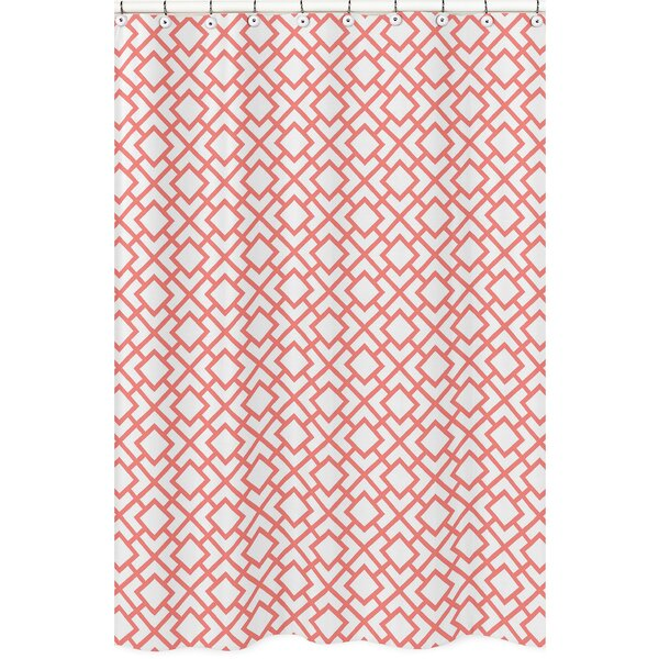 Mod Diamond Brushed Microfiber Shower Curtain by Sweet Jojo Designs