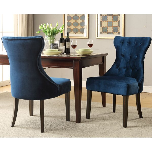Review Delfin Upholstered Dining Chair (Set Of 2)