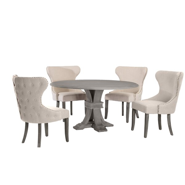 Zinnia 5 Piece Dining Set by One Allium Way