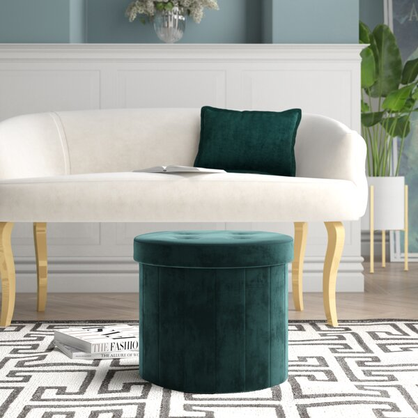 Home & Outdoor Upper Stanton Tufted Storage Ottoman