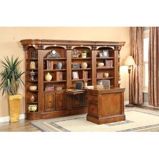 dual desk bookshelf small. Glastonbury Dual Station Library Wall Desk Bookshelf Small