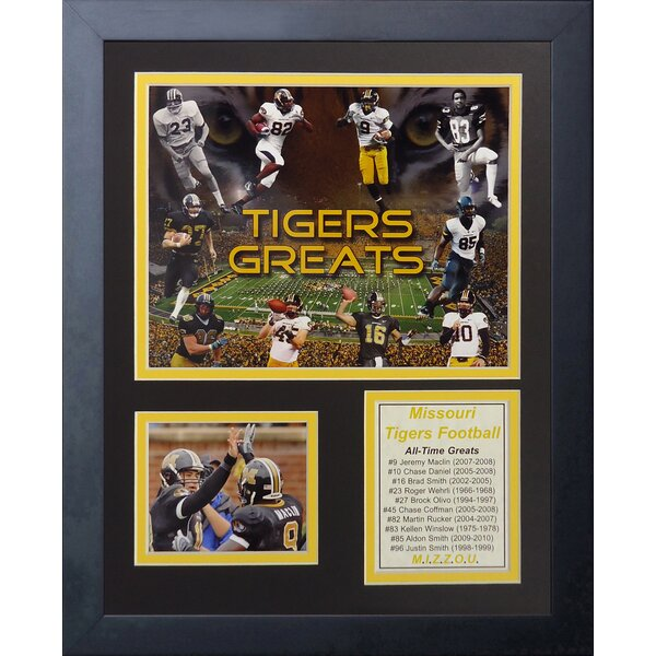 Missouri Tigers Greats Framed Memorabilia by Legends Never Die