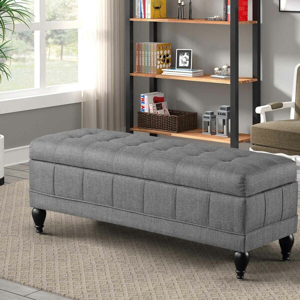 Oleson Upholstered Flip Top Storage Bench