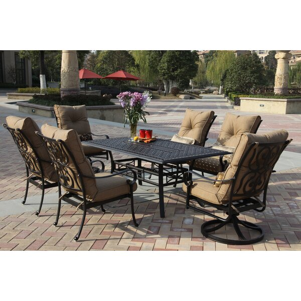 Lanesville 7 Piece Dining Set with Cushions by Darby Home Co