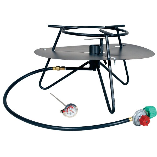 Heavy Duty Jet Burner Outdoor Cooker Package with Baffle and Rond Bar Legs by King Kooker