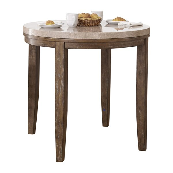 Clearmont Counter Height Marble Top Dining Table by Three Posts