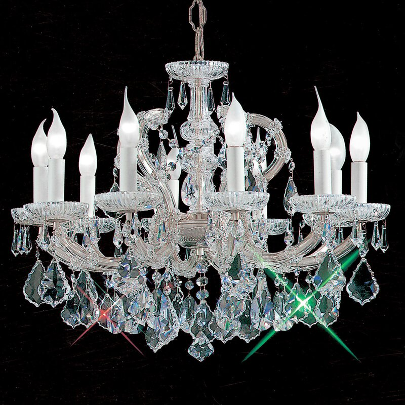Maria Thersea 10-Light Crystal Chandelier