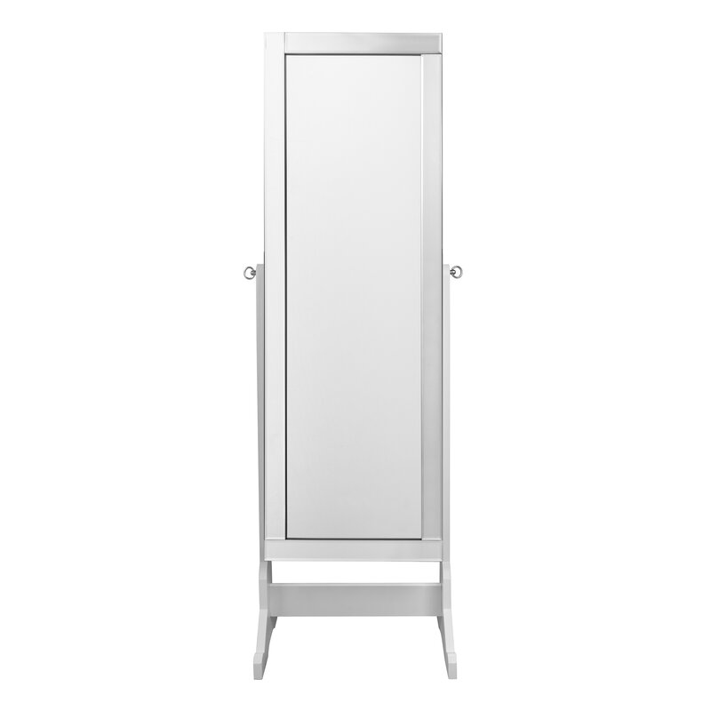 inspired home co dazzle full length jewelry armoire with mirror reviews wayfair. Black Bedroom Furniture Sets. Home Design Ideas