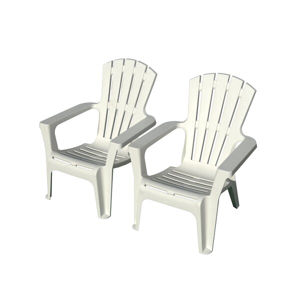 Martindale Plastic Adirondack Chair (Set of 2) by Rosecliff Heights